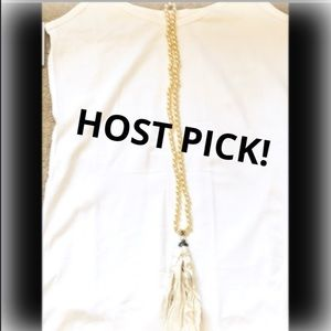 💕HOST PICK💕 NEW, Pearl & Crystal Tassel Necklace
